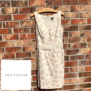 Ann Taylor beige linen dress